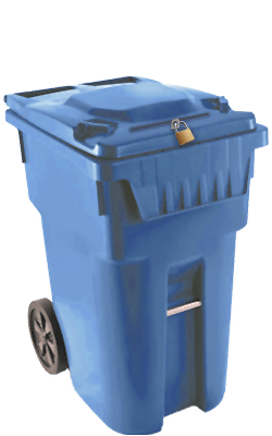 95 gallon secure paper shredding bin